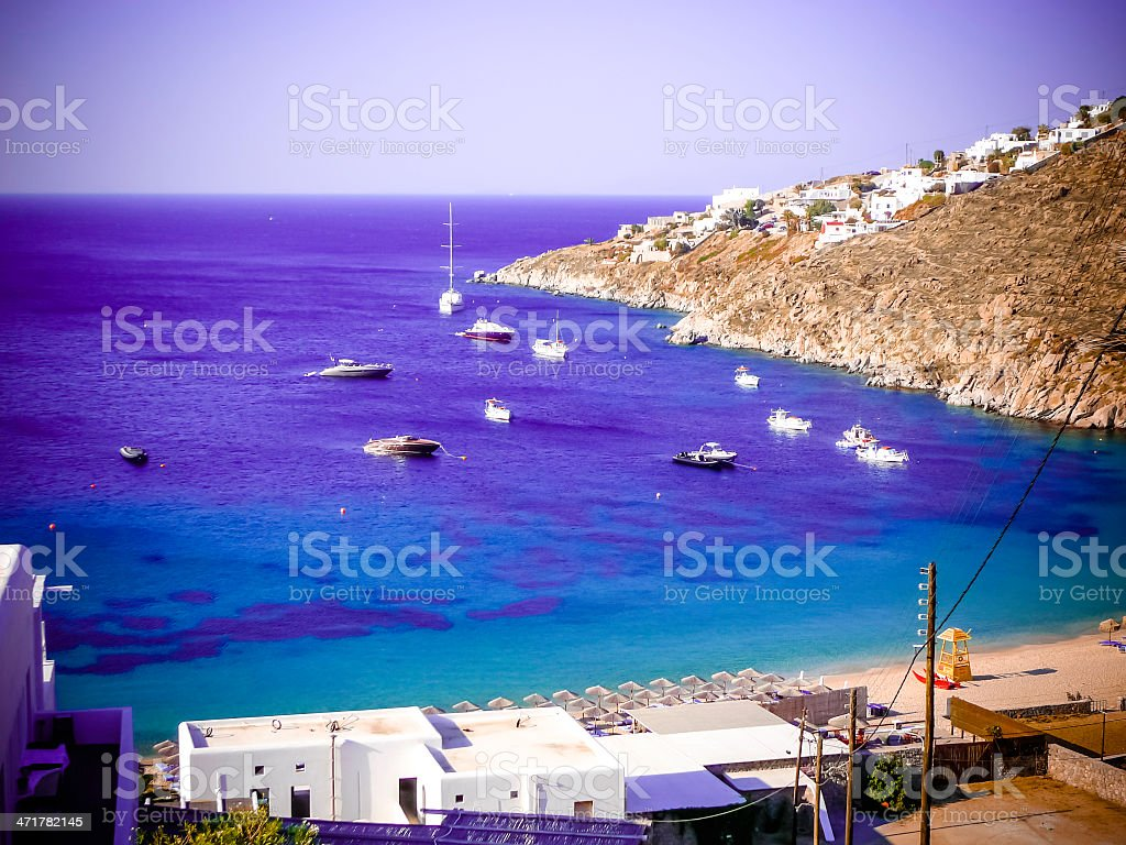 Beach of Grecce Mykonos royalty-free stock photo
