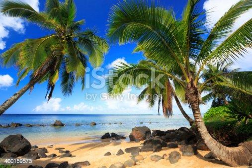 Beach on northern shore of Kauai