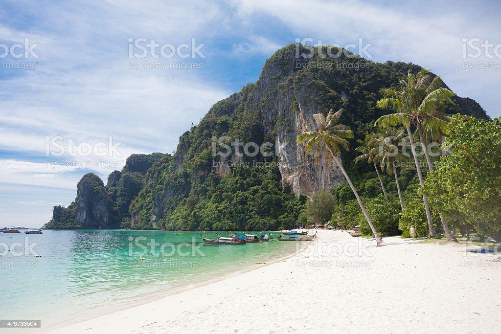Beach of Ko Phi Phi stock photo