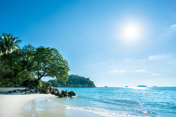 Beach of Koh Chang. Sunrise on island. Island of Kohchang, Thailand. Beach of Koh Chang. Sunrise on island. koh chang stock pictures, royalty-free photos & images