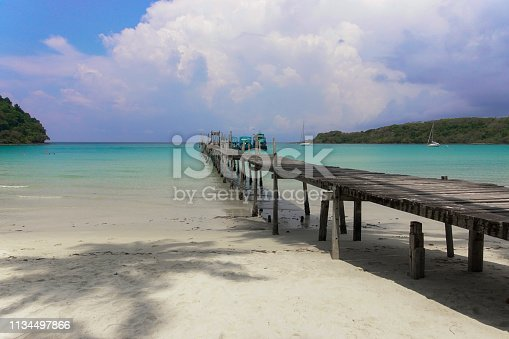 Beach of Koh kood island, Trad Thailand. This is one of the best beach or island for holiday in Thailand. Travel and tourism concept.