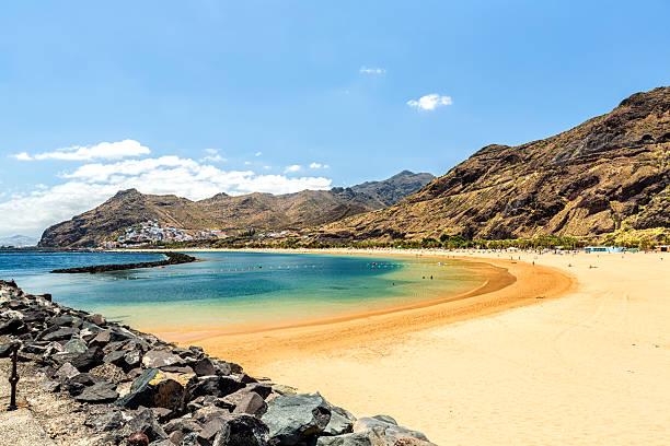 Beach of Las Teresitas in Tenerife stock photo