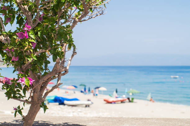 Beach of Letojanni, near taormina, Sicily - foto stock