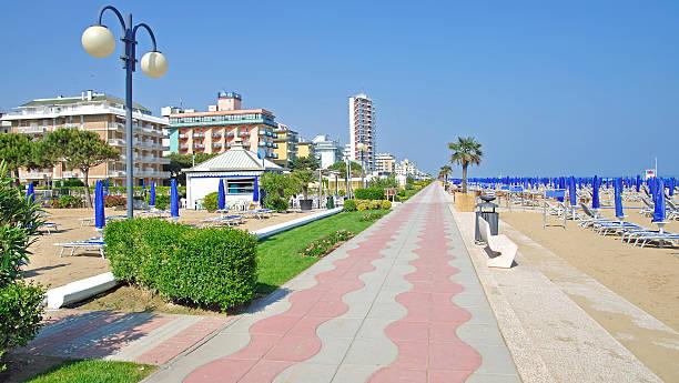 Strand von Lido di Jesolo, Veneto, Adria, Italien – Foto