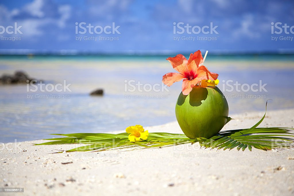Beach of Mauritius stock photo