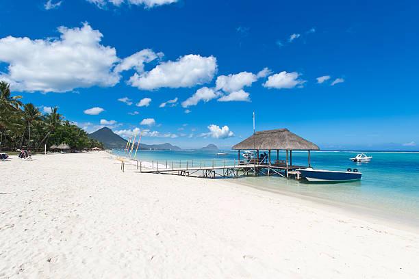 Beach of Mauritius stock photo