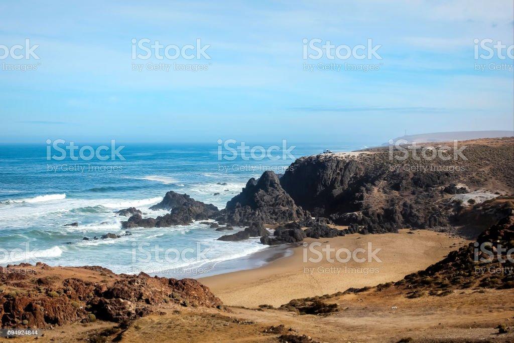 Beach of Morocco. Sidi-Ifni. stock photo
