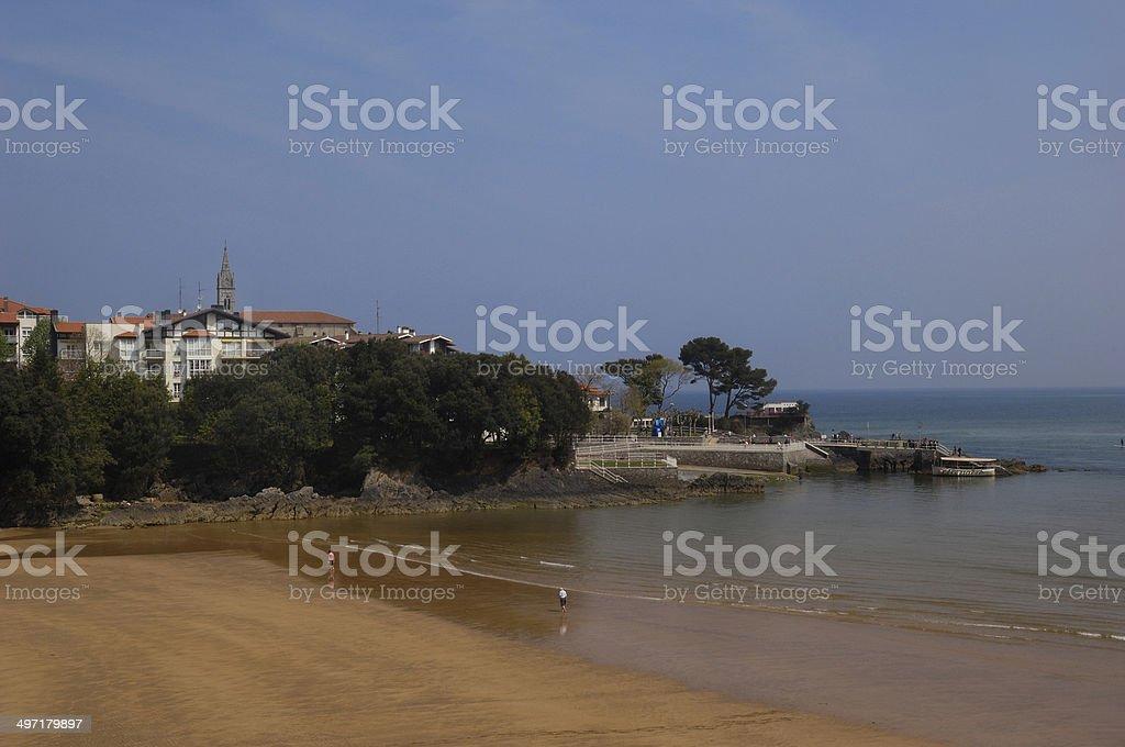 Beach of Mundaka, Pais Basco, Spain stock photo