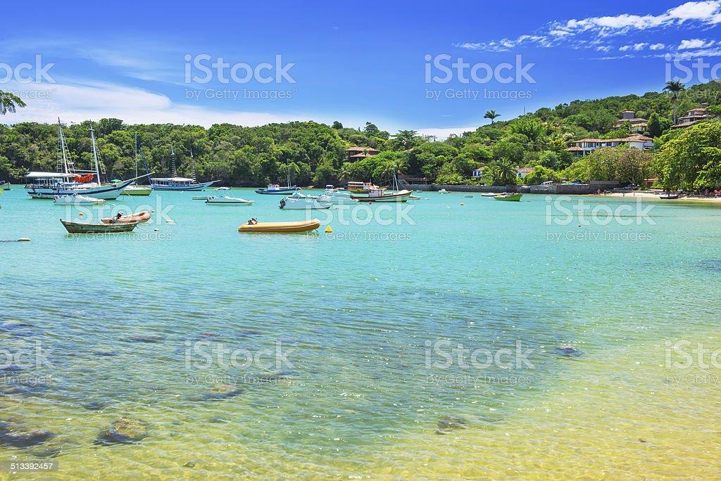 Beach of Ossos in Buzios, Rio de Janeiro stock photo