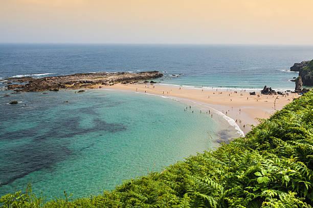 Beach of Pechon, Cantabria, Spain Beach of Pechon, Cantabria, Spain cantabria stock pictures, royalty-free photos & images