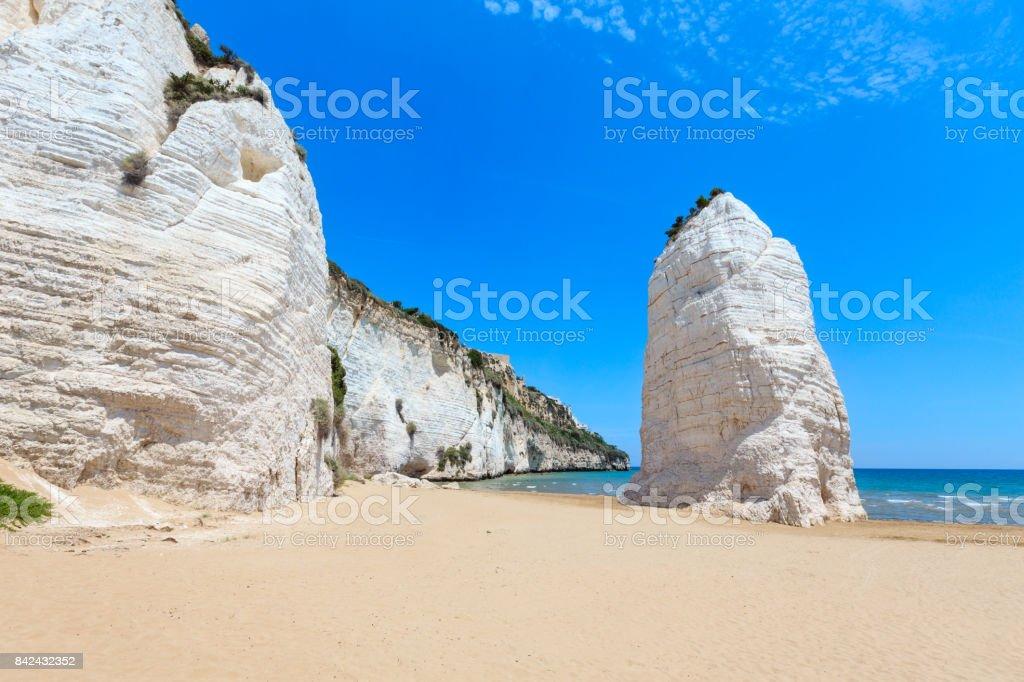 Strand der Pizzomunno weiße Felsen – Foto