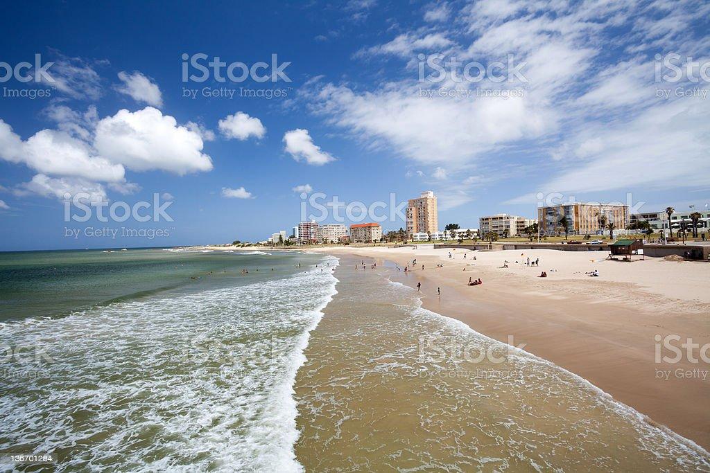 beach of Port Elizabeth, South Africa stock photo