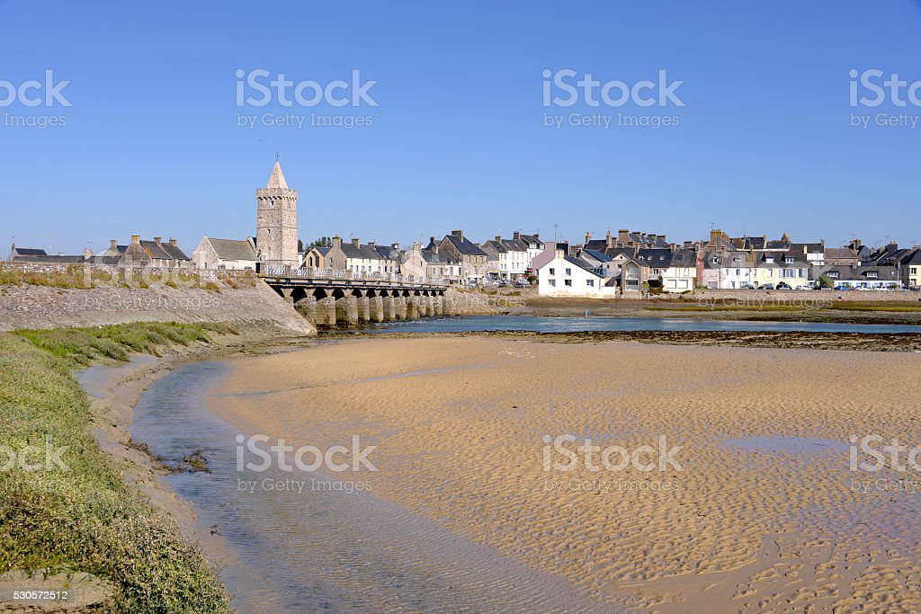 Beach of Port-Bail in France stock photo