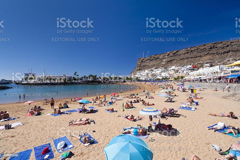Beach Of Puerto De Mogan, Gran Canaria stock photo