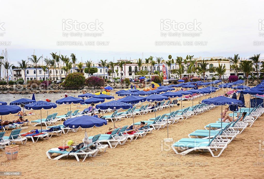 Beach of Puerto de Mogan in Gran Canaria (Spain) stock photo