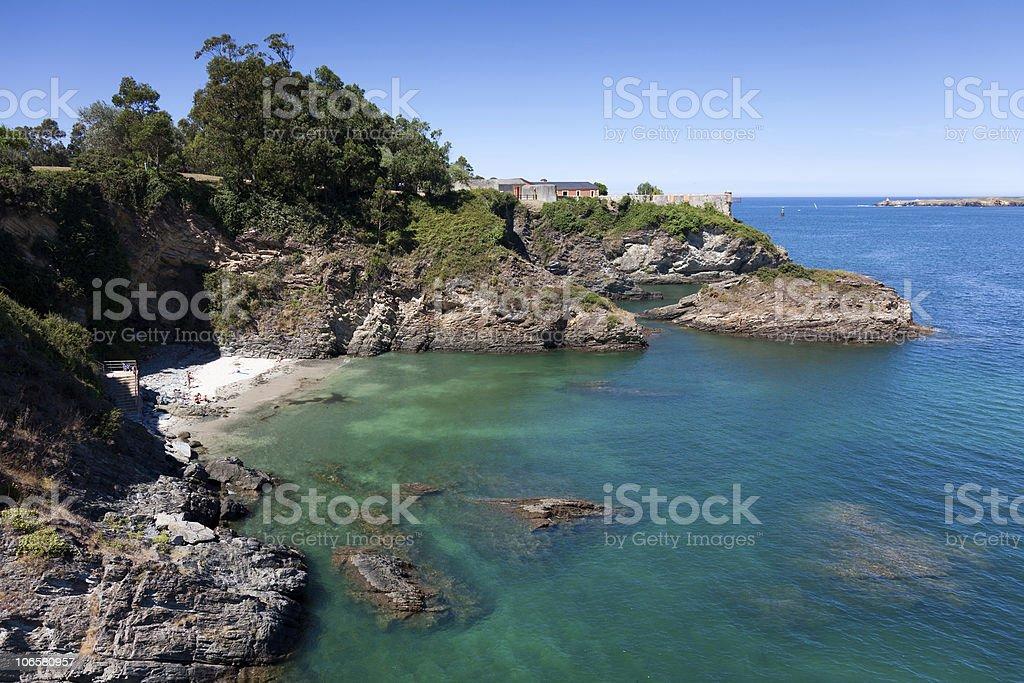 Beach of Ribadeo stock photo