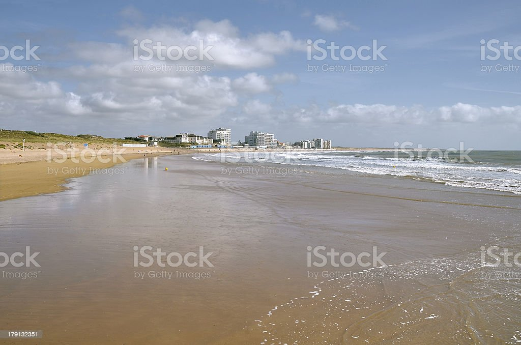 Beach of Saint Saint-Gilles-Croix-de-Vie in France royalty-free stock photo