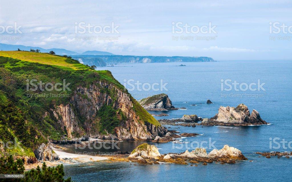 Beach of Silence, Asturias, Spain stock photo