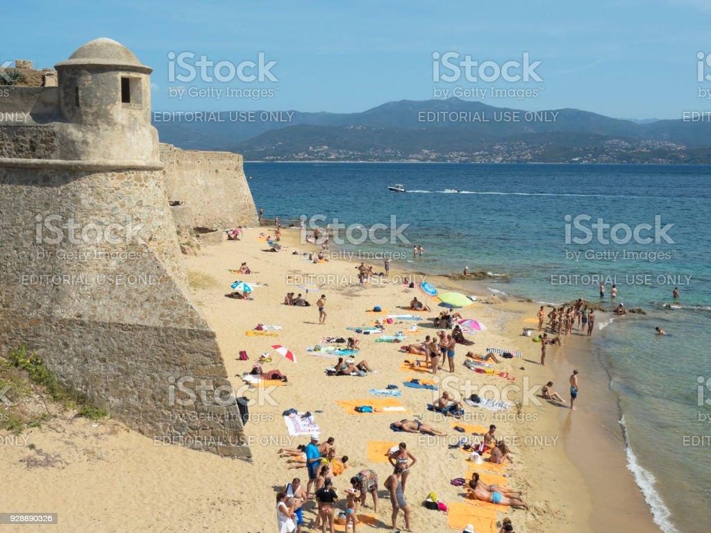 Playa de St. Francois Ajaccio - foto de stock