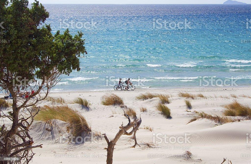 Spiaggia di Teulada, Sardegna, Italia. - foto stock
