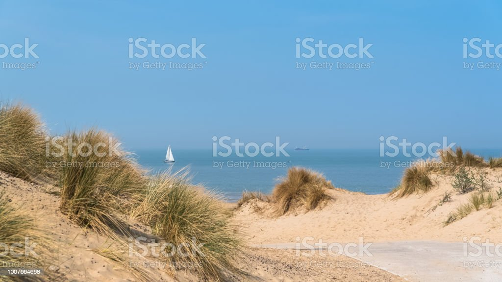 Beach of the North, Belgium stock photo