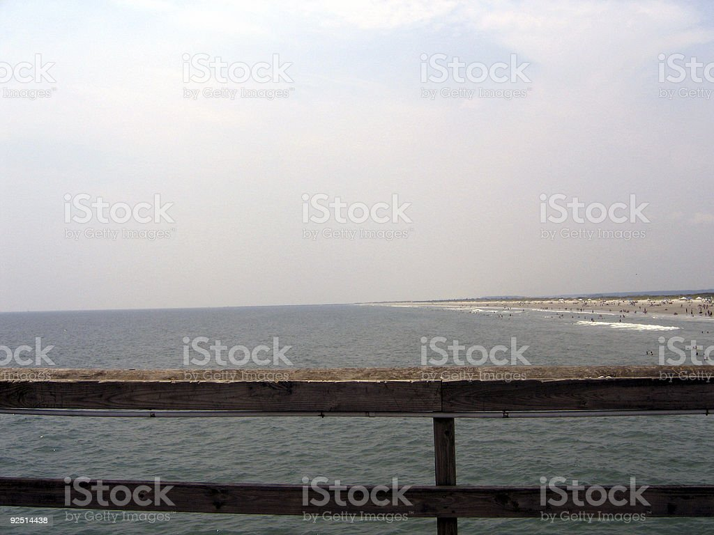 beach of the pier royalty-free stock photo