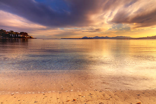 Beach of the Riviera: Cap d'Antibes stock photo