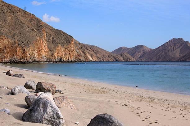 Strand von Zighy Bucht, nahe gelegenen Dibba, Oman – Foto