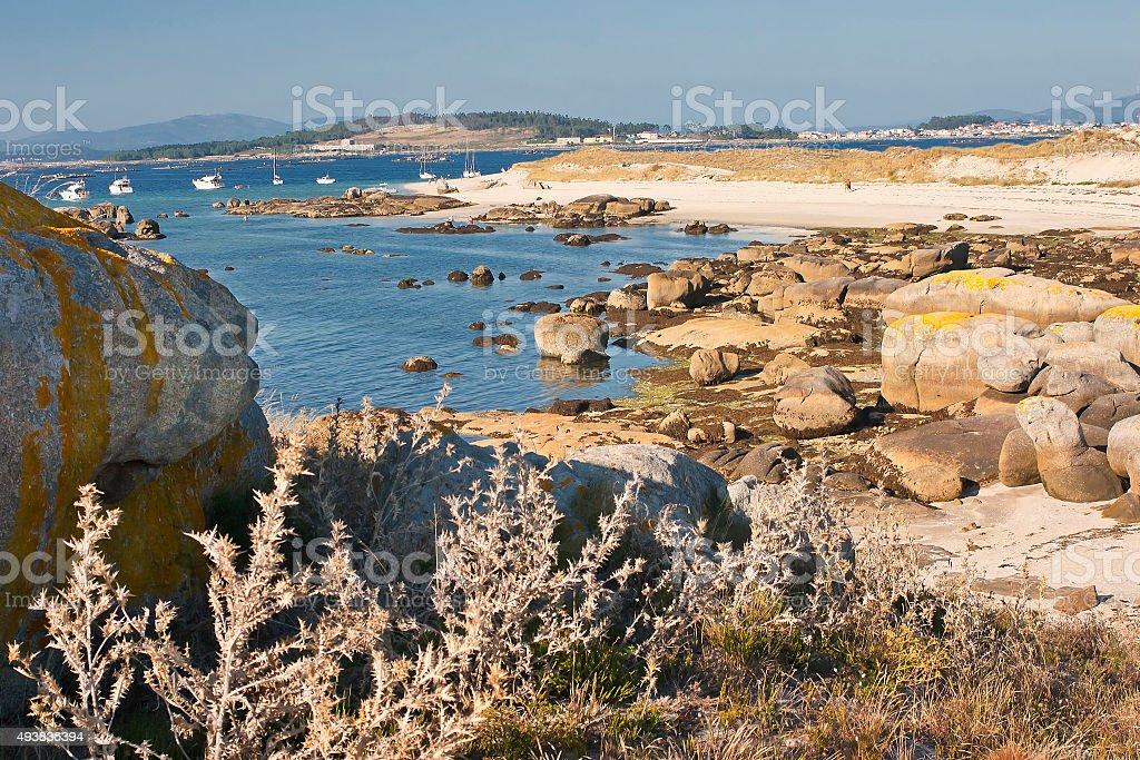 Playa de isla Areoso - foto de stock