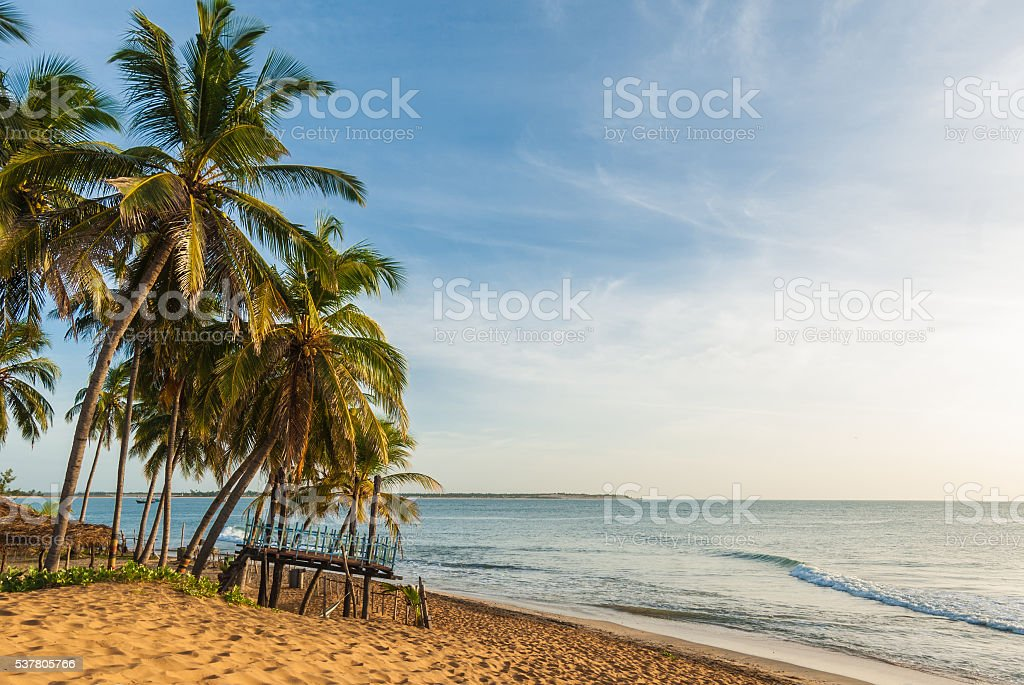 Beach on arugam bay stock photo