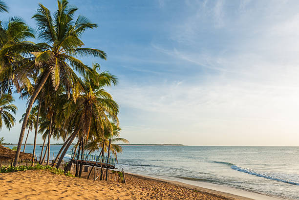 beach on arugam bay - bay of water stock pictures, royalty-free photos & images