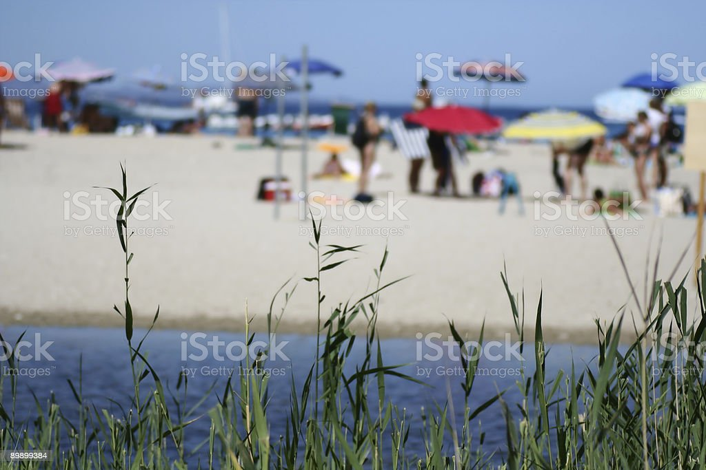 Beach on background royalty-free stock photo