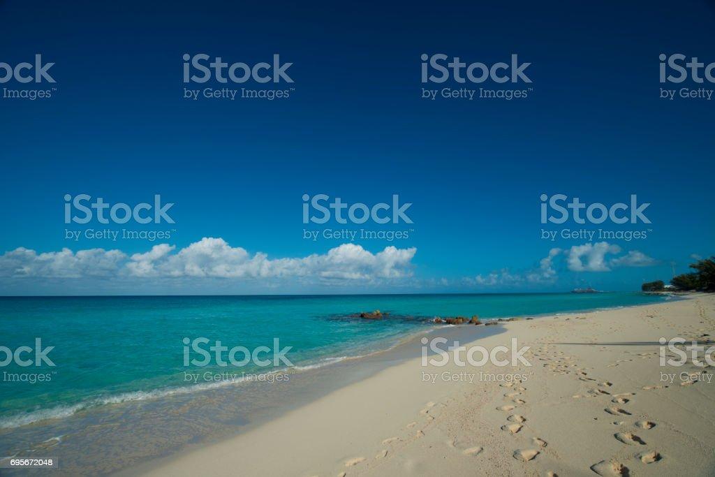 beach on Bimini stock photo