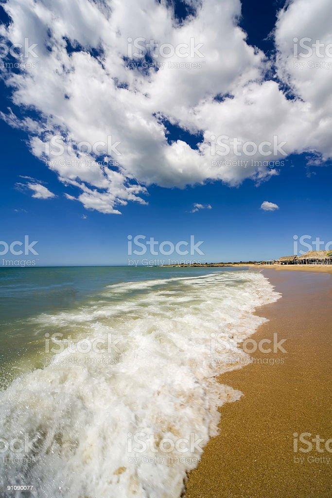 Beach on island Margarita, Venezuela royalty-free stock photo