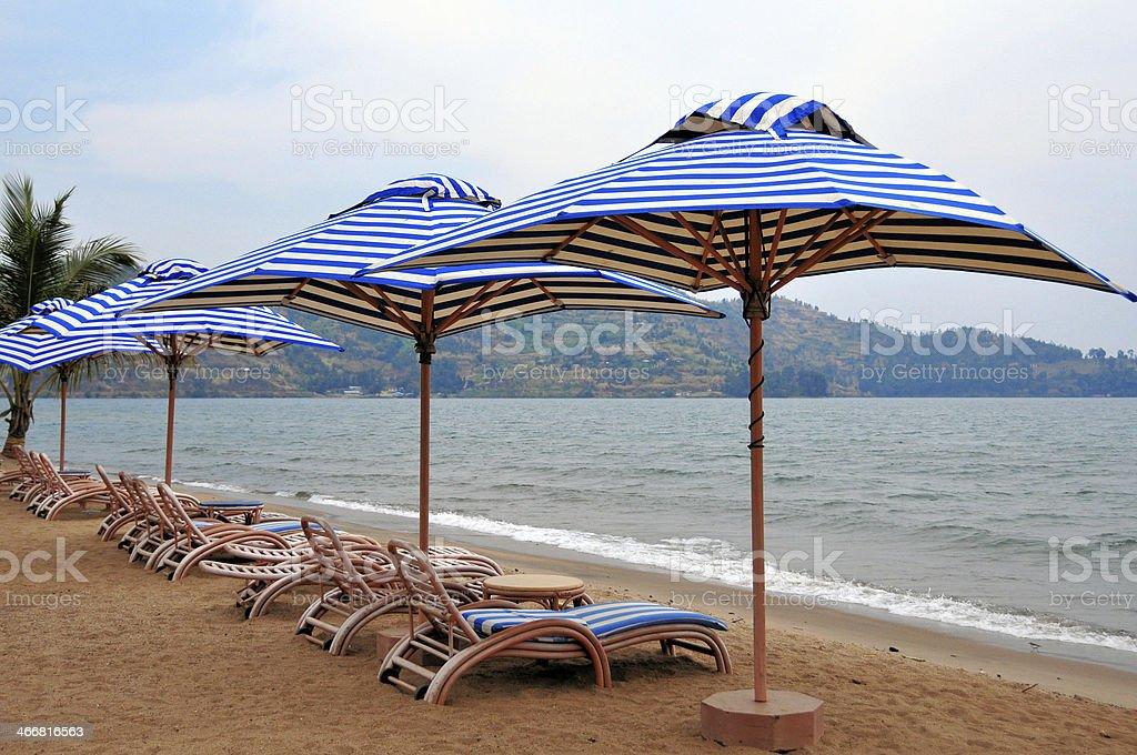 Beach on Lake Kivu, Gisenyi, Rwanda stock photo