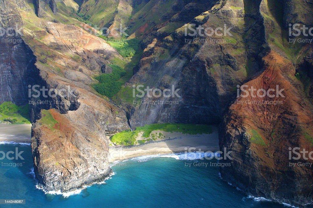 Beach on Na Pali Coast, Hawaii royalty-free stock photo