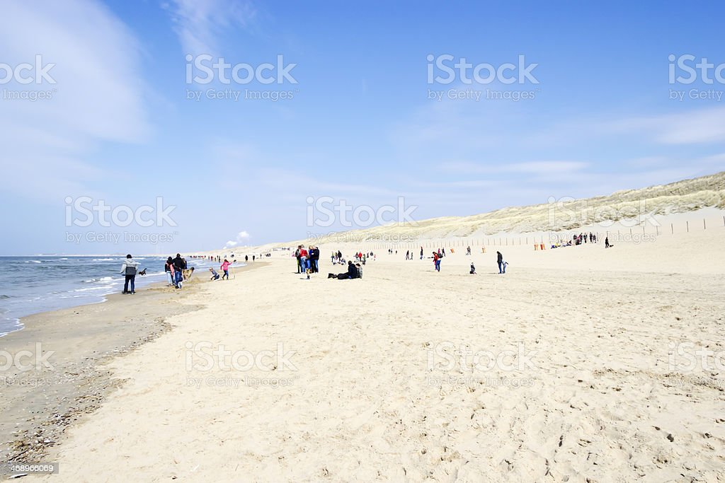 Beach on North Sea, the Netherlands stock photo