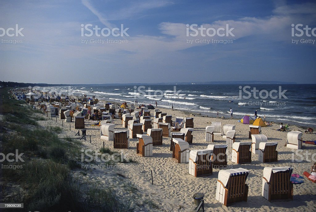 A beach on rugen royalty-free stock photo
