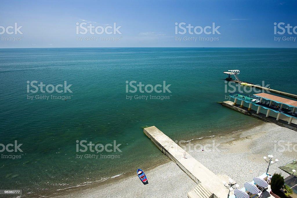 해변을 감상할 수 있습니다. royalty-free 스톡 사진