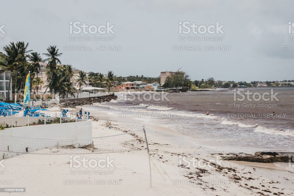 Beach On The South Coast Of Barbados Badly Affected By