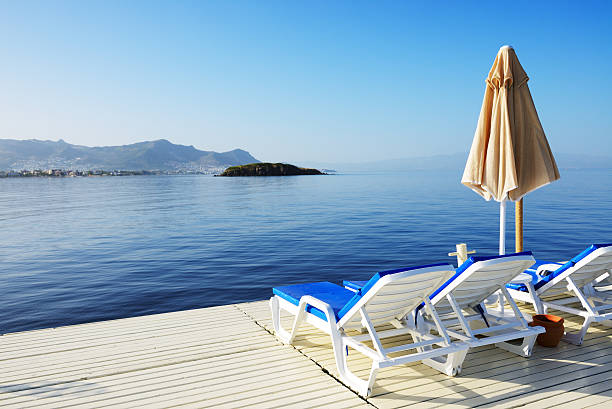 Strand auf türkische resort, Bodrum, Türkei – Foto