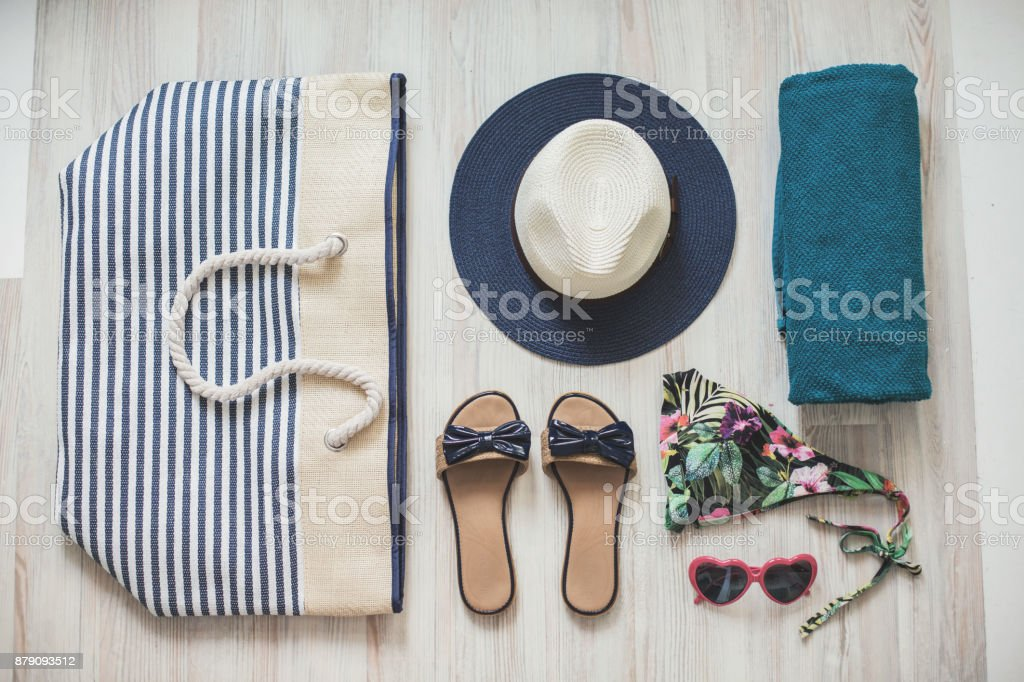 Beach outfit stock photo