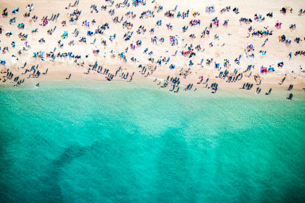 Strand-Draufsicht – Foto
