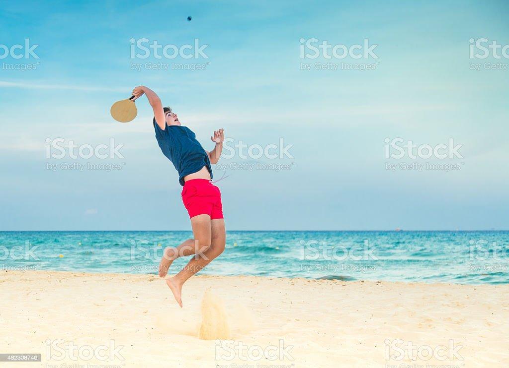 Spiaggia da paddle ball - foto stock