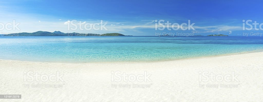 Beach panorama royalty-free stock photo
