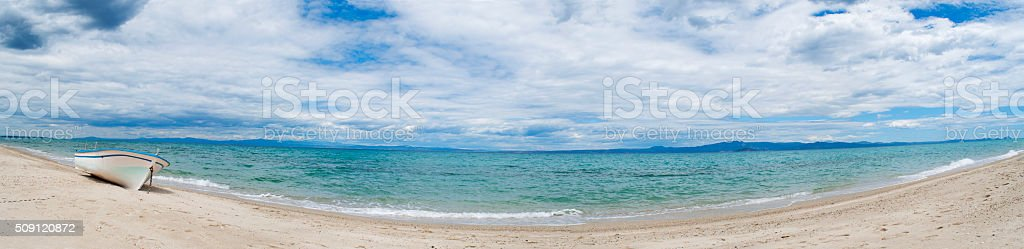 Beach panorama stock photo