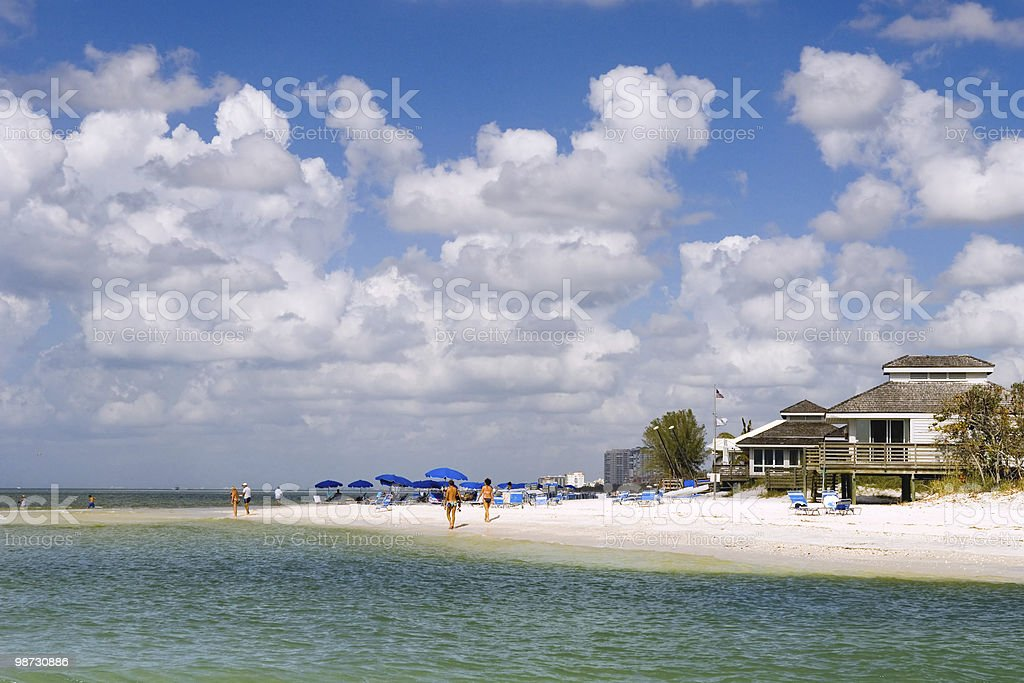beach park along florida gulf coast at naples royalty-free stock photo