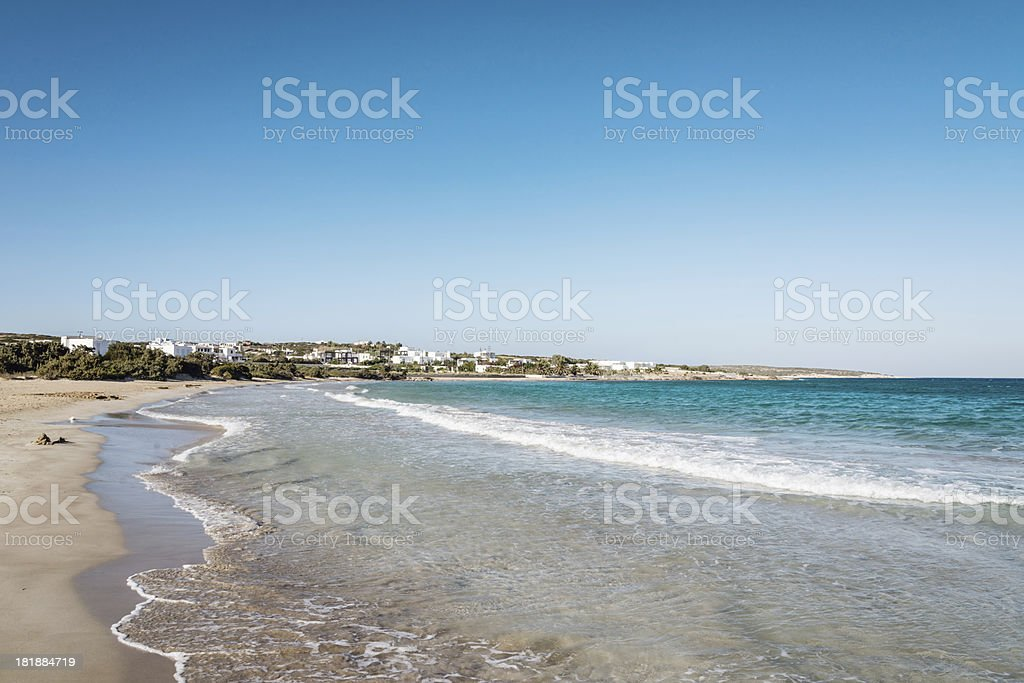Beach Paros Island,Greece royalty-free stock photo