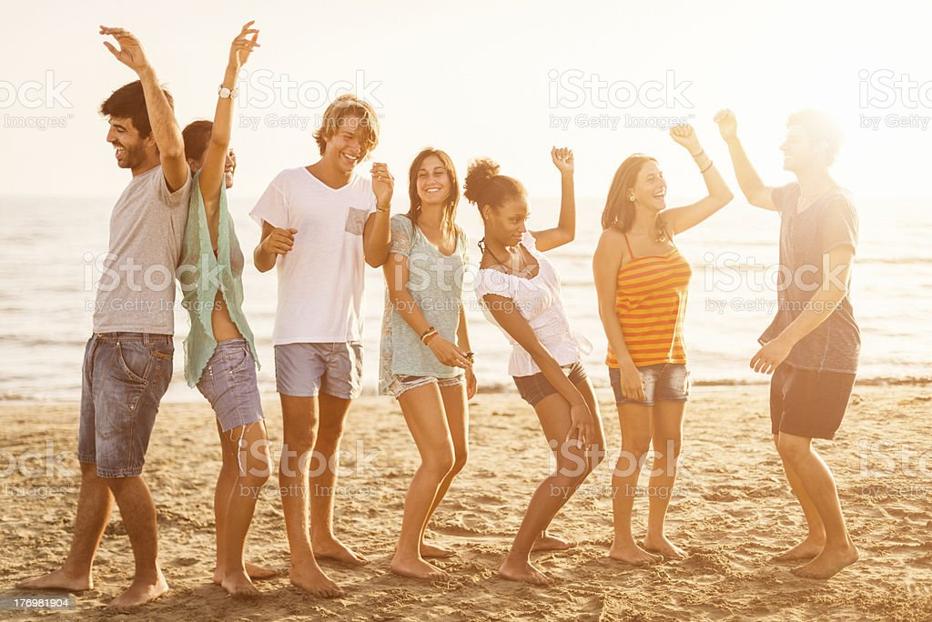 Beach party on summer royalty-free stock photo