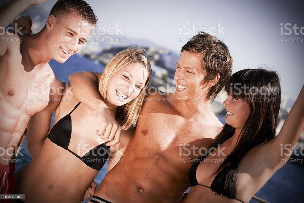 Beach party royalty-free stock photo